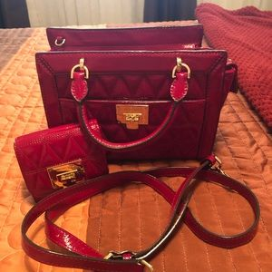 Michael Korda purse with matching wallet